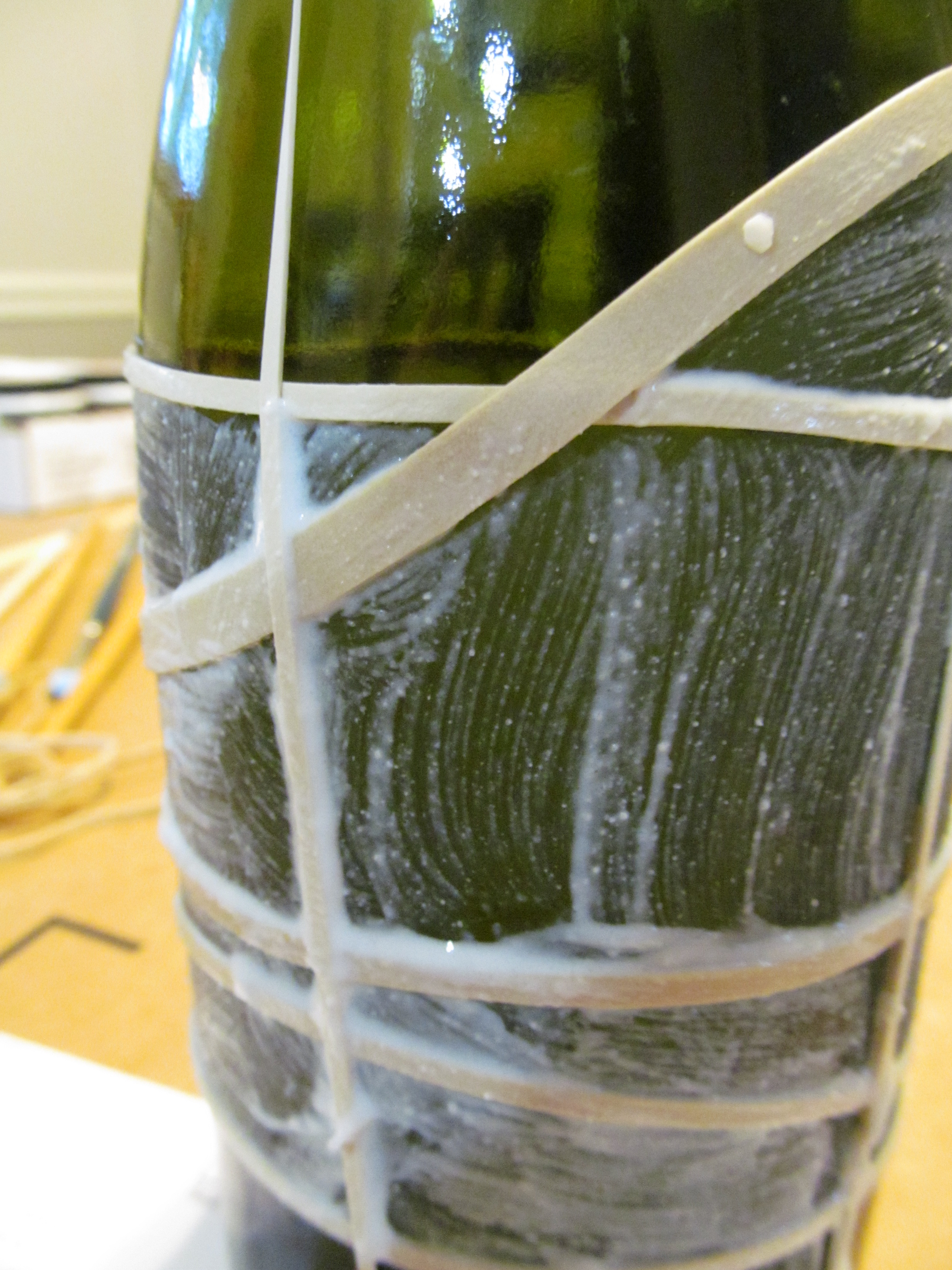 Wine bottle crafts a smith of all trades for Glass bottle crafts to make