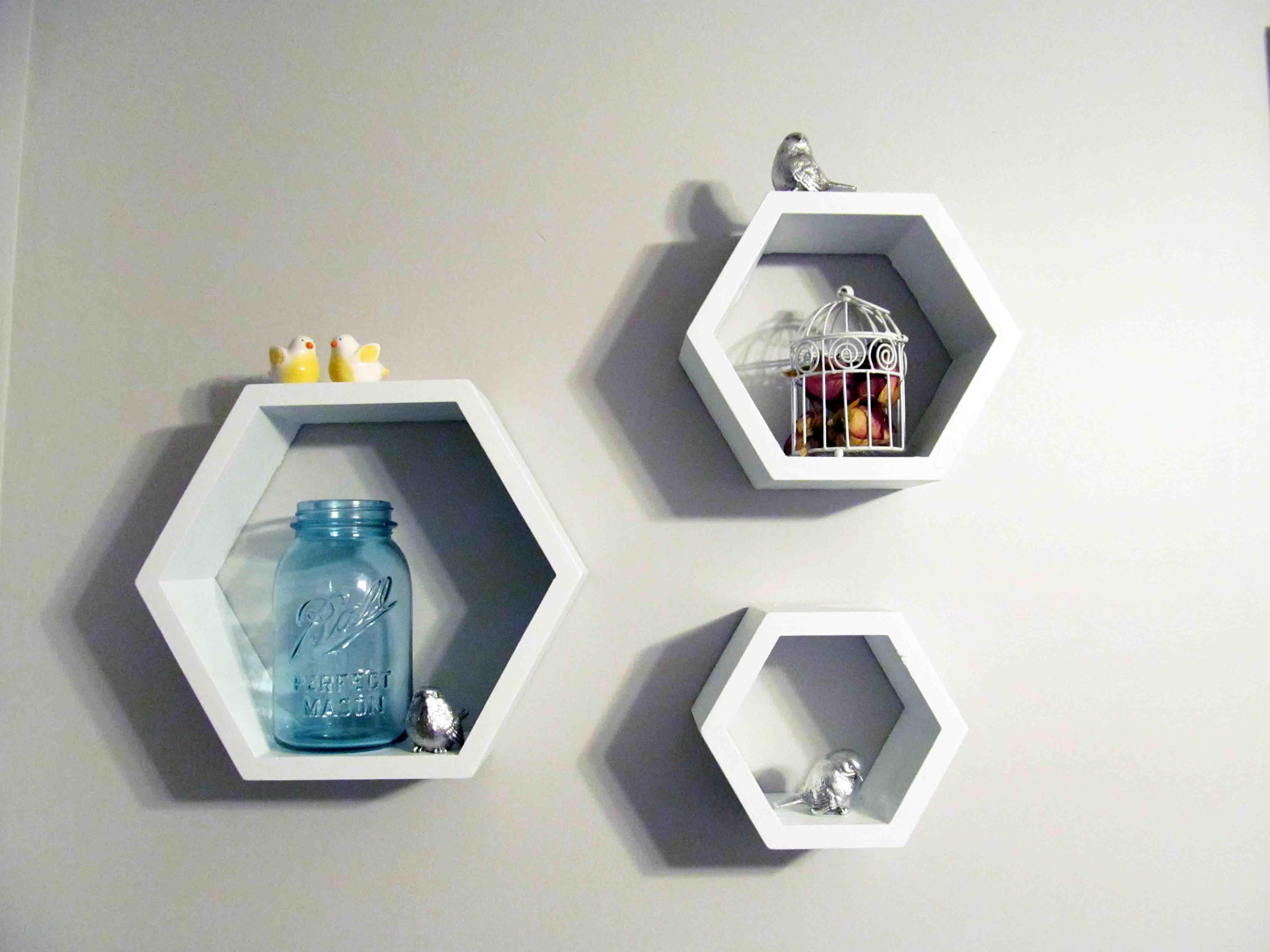 Woodwork Hexagon Shelf Plans PDF Plans