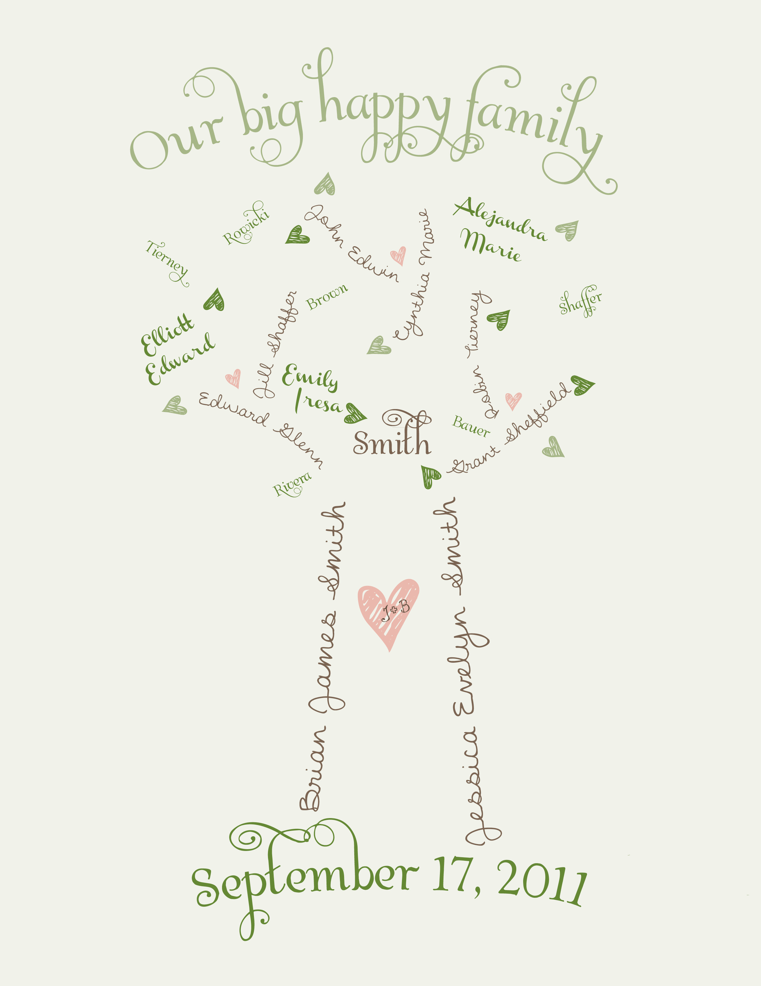 "Welcome To Our ""family Tree"" It's Not A Real Family Tree"