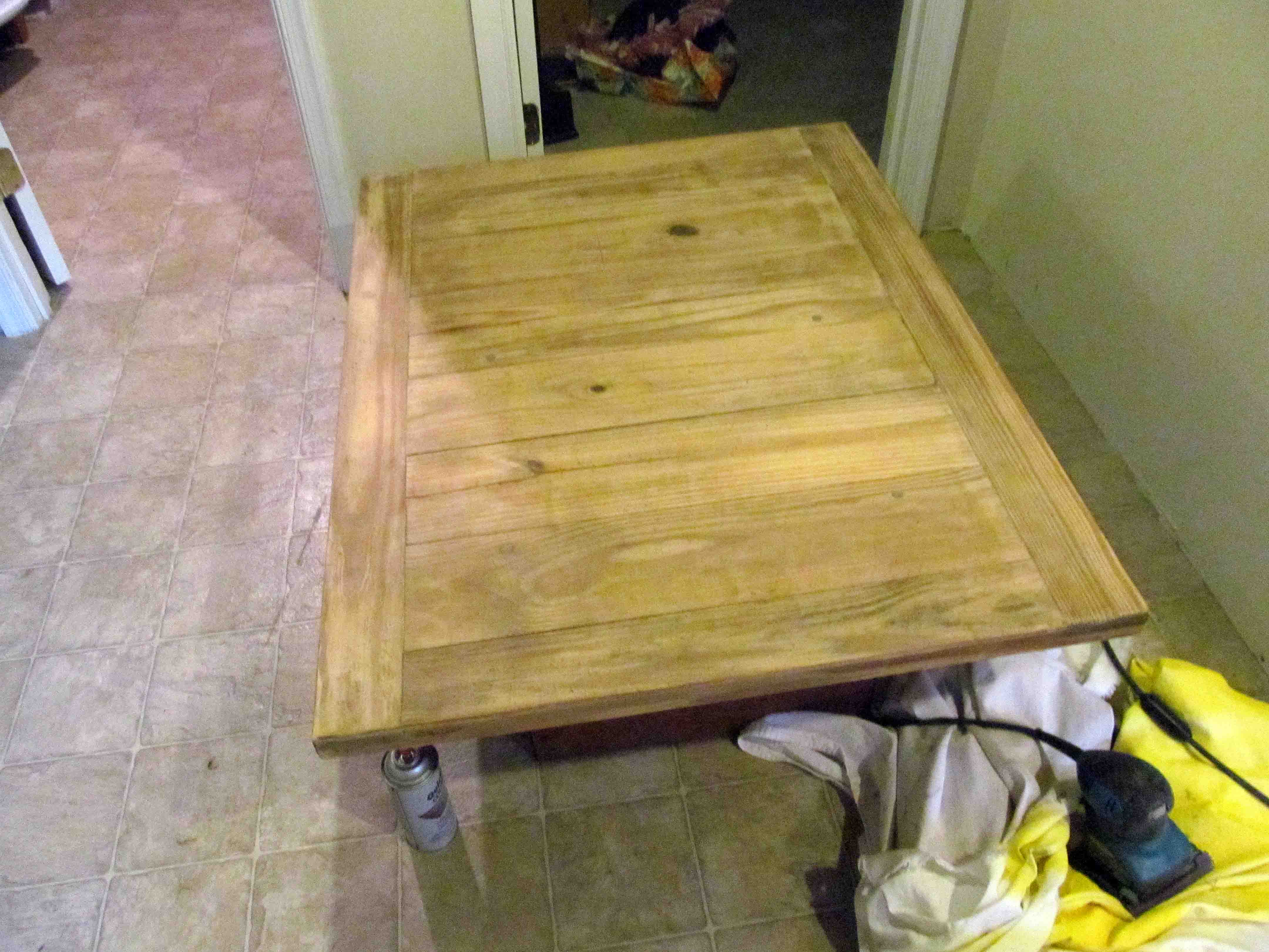 Stained and striped coffee table – A Smith of All Trades