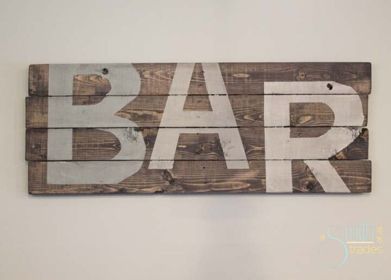 {A Smith of All Trades} Pallet Bar Sign
