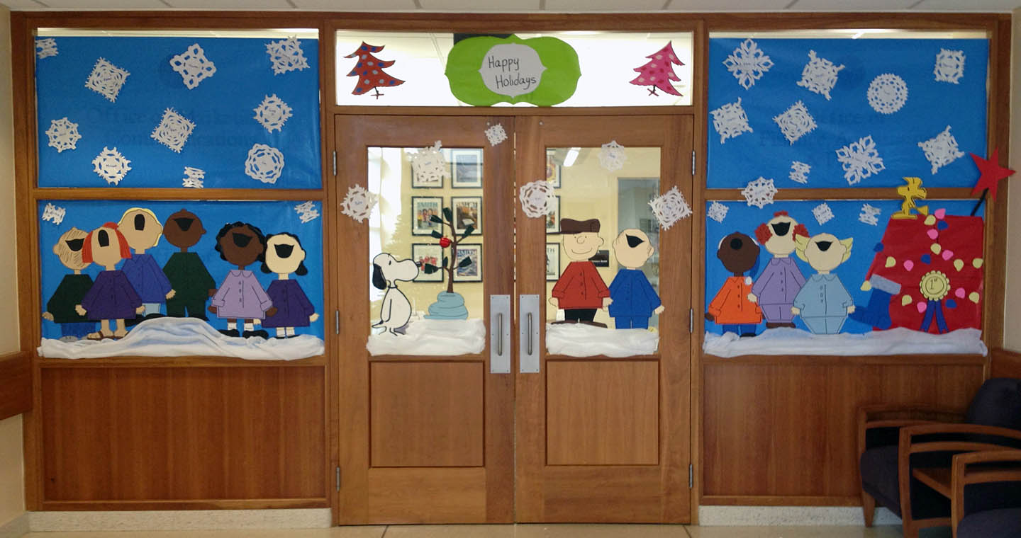 charlie brown christmas doors to our suite go marcomm img_2207