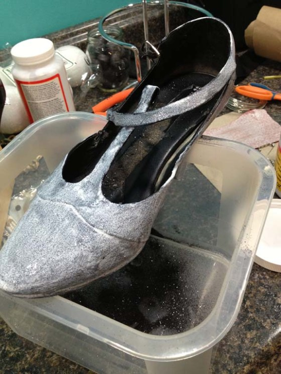 Mod Podge Shoes Gone Wrong