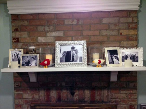 Love bird project Mantel