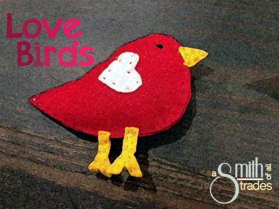 Red love bird