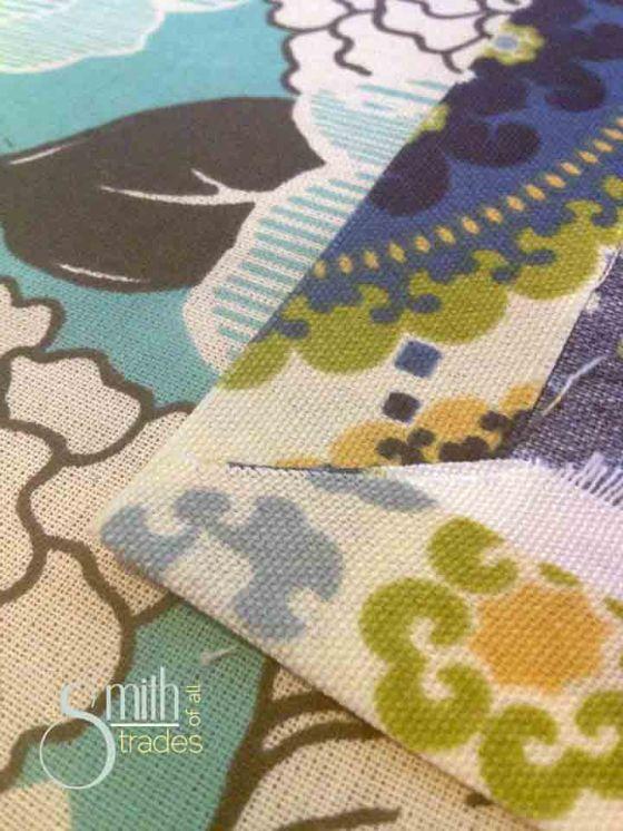 No-Sew Tablecloth corner