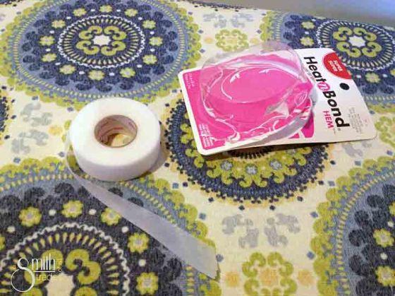 No-Sew Tablecloth hem tape