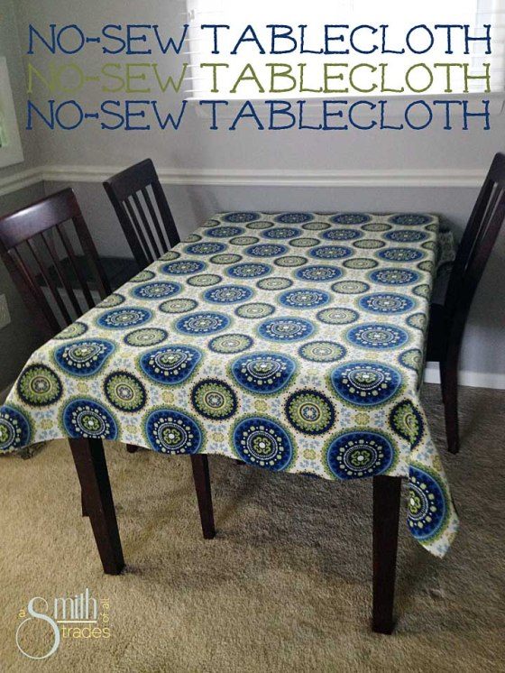 No-Sew Tablecloth