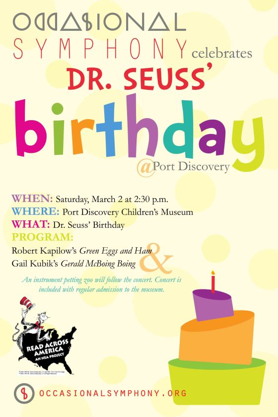 Occasional Symphony Dr. Seuss Poster