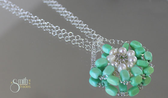 {A Smith of All Trades) Green necklace