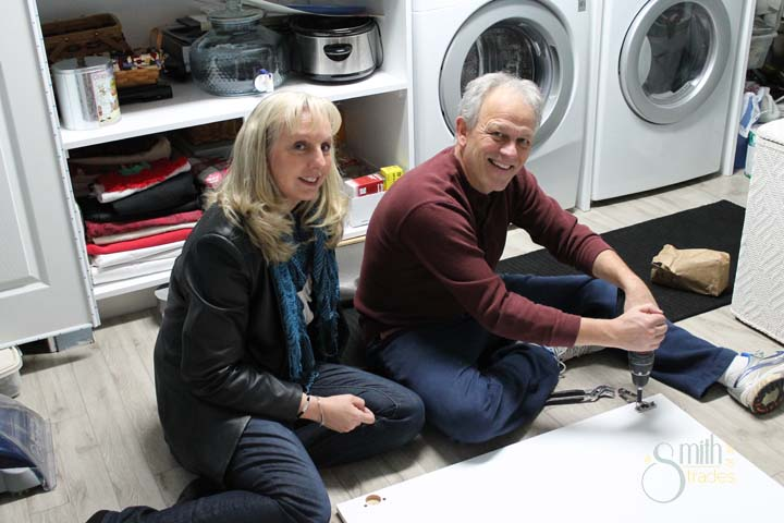 My parents in their almost-remodeled laundry room.