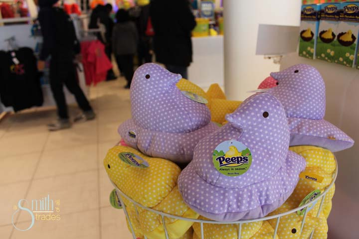Our first visit to the Peep store!