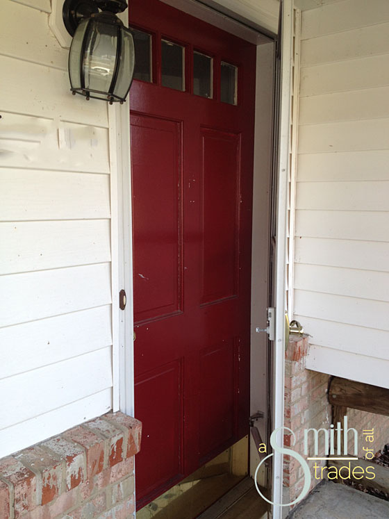 {A Smith of All Trades} Front Door Red
