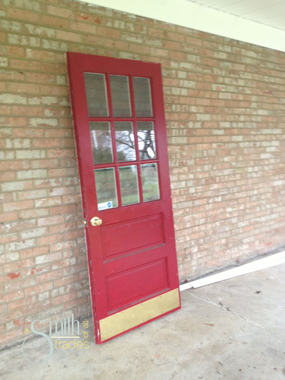 {A Smith of All Trades} Car Port Door Before