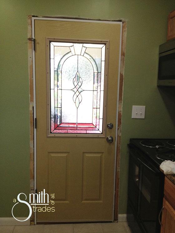{A Smith of All Trades} Car Port Door Inside No Paint No Molding