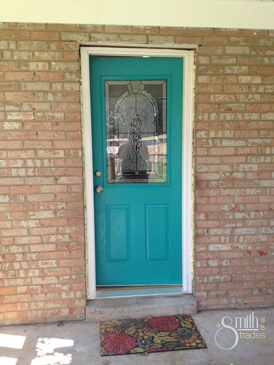 {A Smith of All Trades} Car Port Door Painted no molding