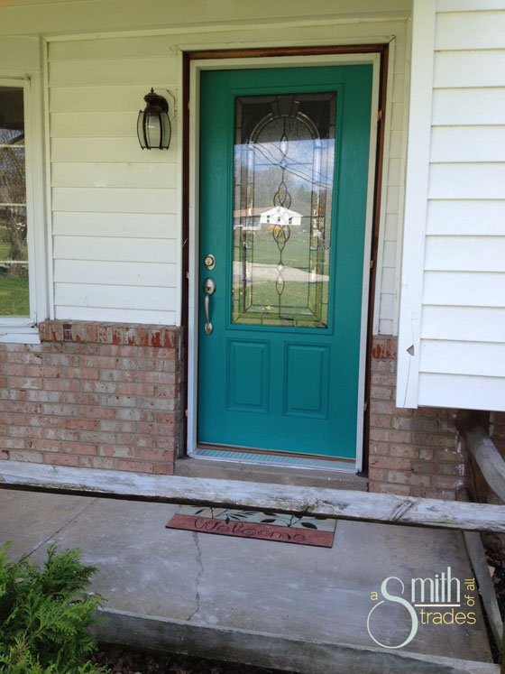 {A Smith of All Trades} Front Door No Molding