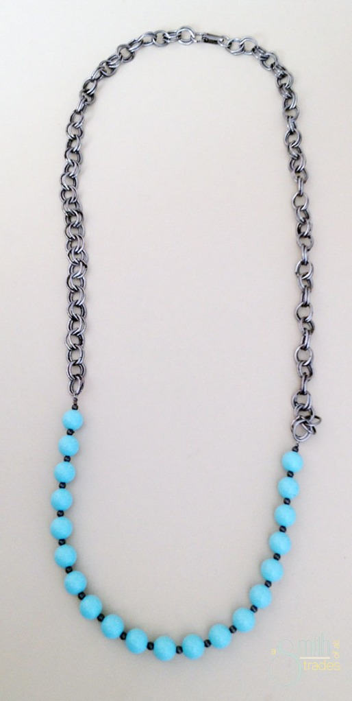 {A Smith of All Trades} Gunmental and Mint Necklace