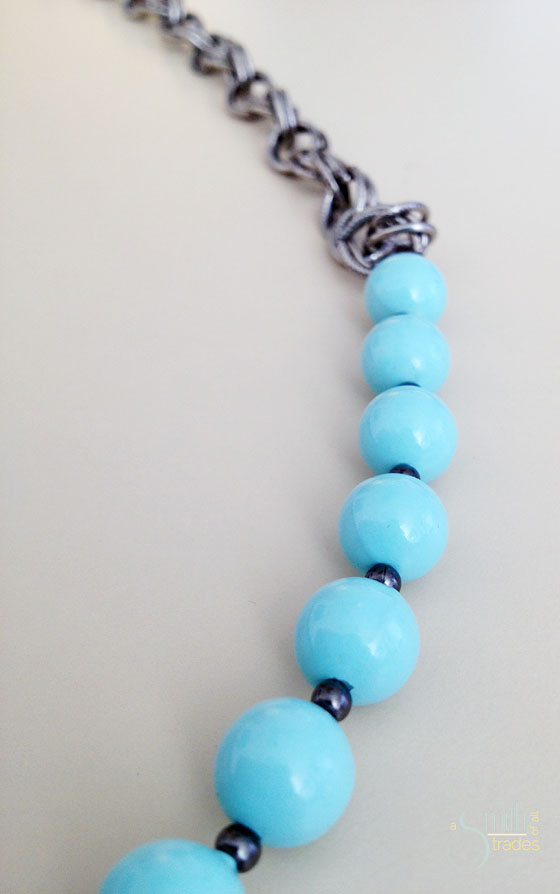 {A Smith of All Trades} Gunmental and Mint Necklace2