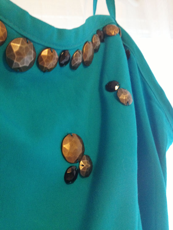 {A Smith of All Trades} Blue Dress Beading
