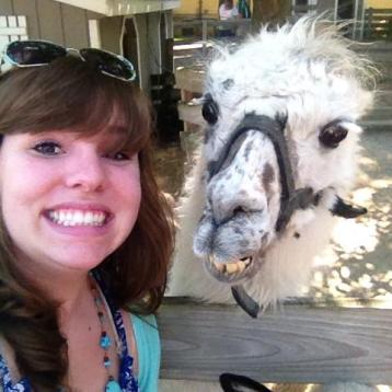Selfie with a llama. How many people can say they've done that?
