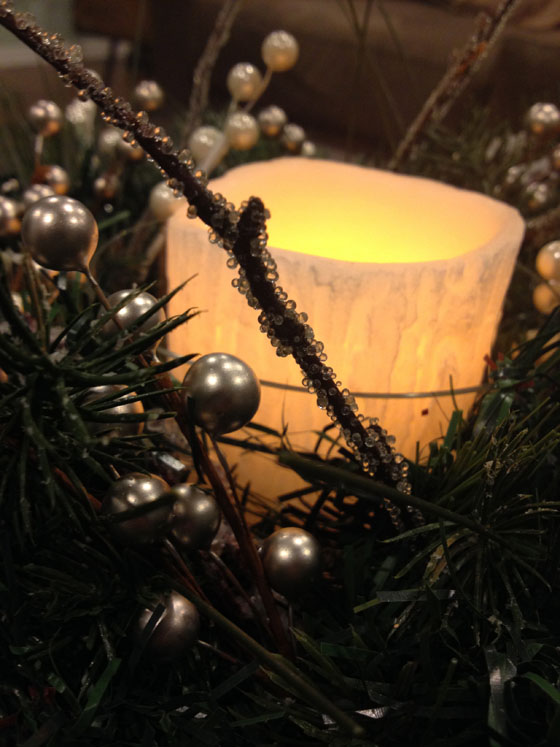 Christmas Centerpiece lit up
