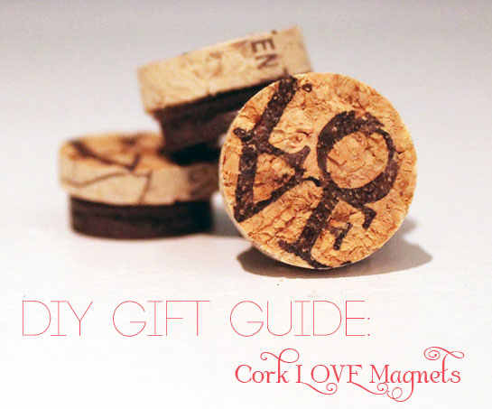 Cork LOVE Magnets