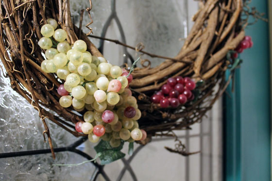 Wine Wreath grap shot