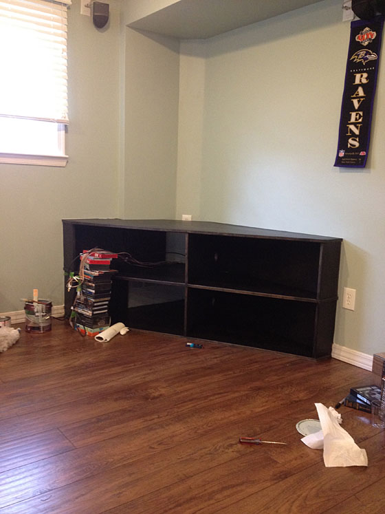 Stained Entertainment Center