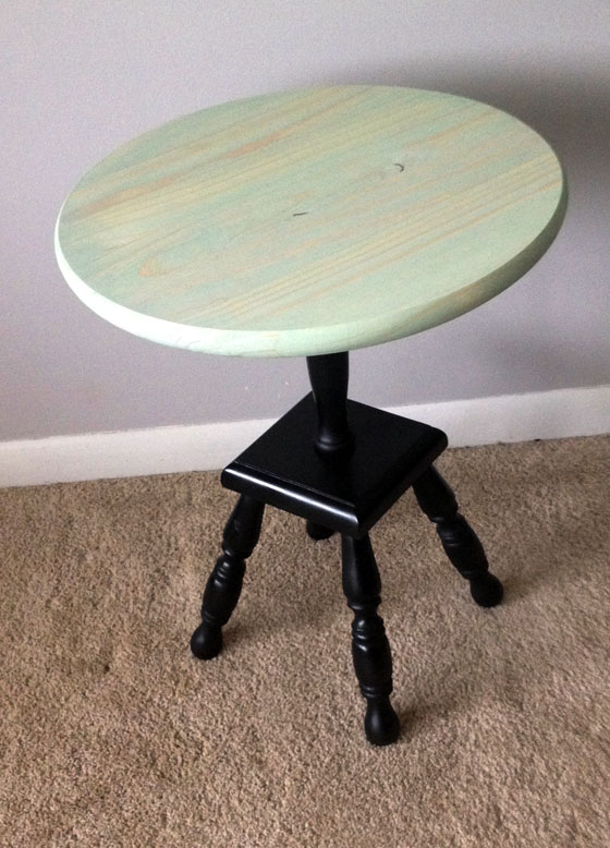 Mint Green PEdestal Table