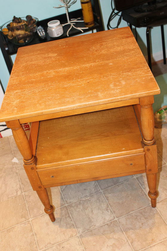 Navy Side Table_Before