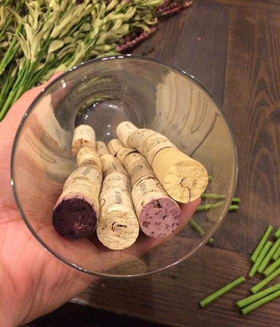 Corks in vase