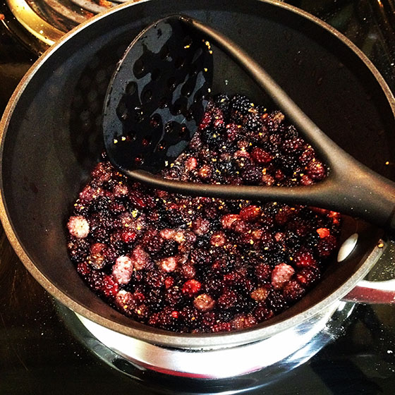 Mulberries Cooking