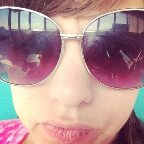 Bay in my glasses