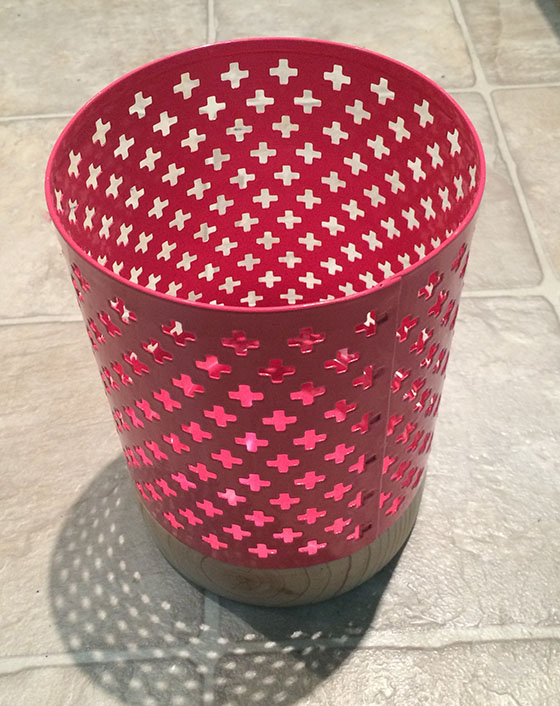 Pink candle holder