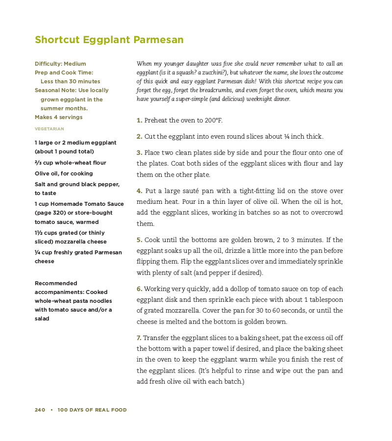 Shortcut Eggplant Parm Recipe