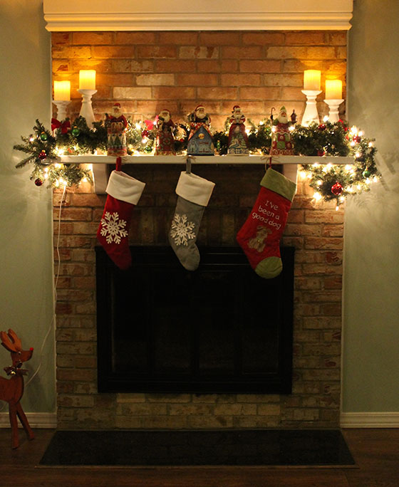 A Mini Fireplace Renovation And Christmas Decor A Smith