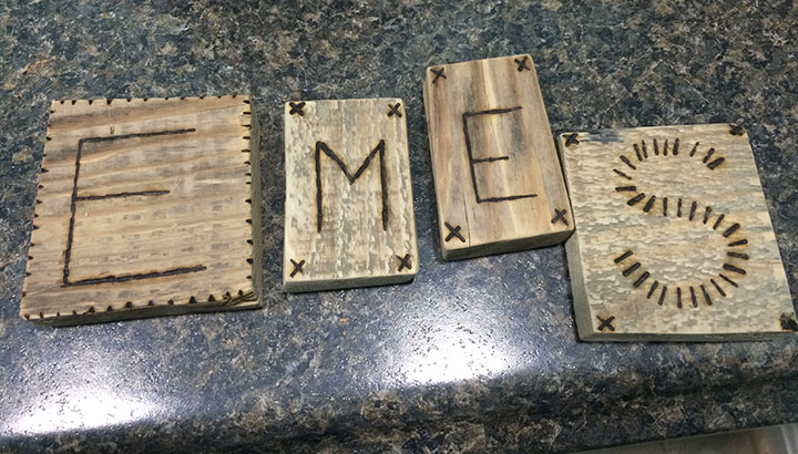 Wood Burned LEtters