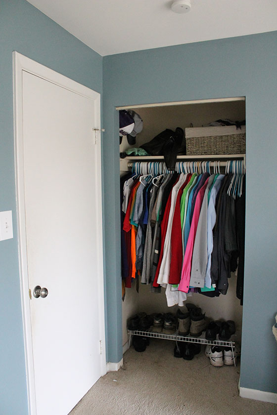 A Smith of All Trades_Master Bedroom_open closet