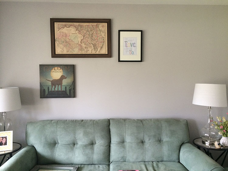 gallery wall_map is up