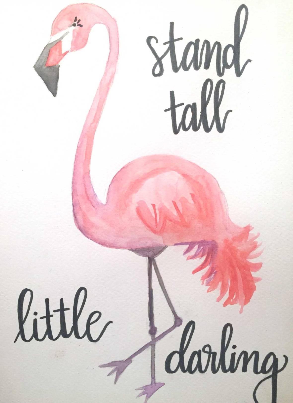 flamingo-painting